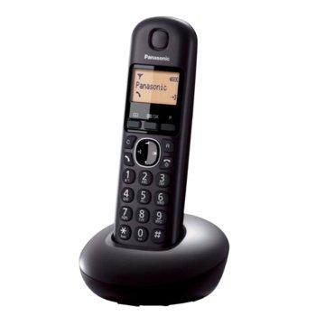 """Безжичен телефон Panasonic KX-TGB210FXB, 1.4""""(3.56 cm) монохромен дисплей, черен image"""
