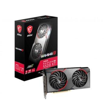 Видео карта AMD Radeon RX 5500 XT, 8GB, MSI RX 5500 XT GAMING X, PCI-E 4.0, GDDR6, 128 bit, DisplayPort, HDMI image