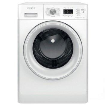 Перална машина Whirlpool FFL7238W EE, клас A+++, 7 кг. капацитет, 1200 оборота, 14 програми, свободностояща, 59.5 cm, бяла image