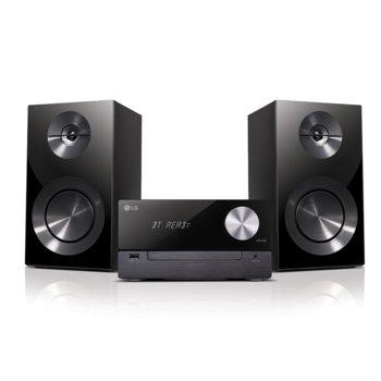 Мини аудио система LG CM2460, 2.0, дисплей, Bluetooth, USB, черна image