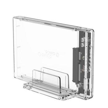 """Кутия 2.5"""" (6.35 cm) Orico 2159C3-G2-CR, за HDD/SSD, USB 3.1, прозрачна image"""