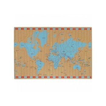 Коркова дъска Memoboards, размер 400x600 mm, кафява image