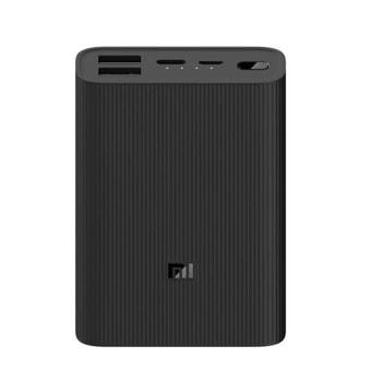 Външна батерия /power bank/ Xiaomi Mi Power Bank 3 Ultra Compact, 10000mAh, черна, 1x USB C, 2x USB 2.0 image