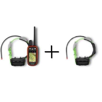 """Навигация за проследяване на кучета Garmin Atemos 100 в комплект с две K15 каишки, 3"""" (7.62 cm) TFT сензорен цветен дисплей, microSD слот, вградена карта на Европа image"""