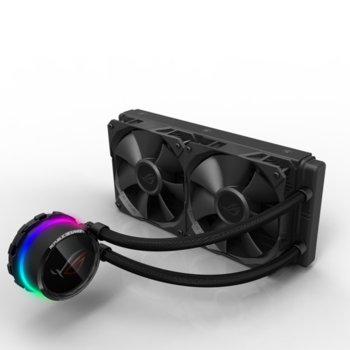 Водно охлаждане ROG RYUO 240 Aura Sync OLED, съвместимост с LGA 2011/2011-3/2066/1366/1152/1156/1155/1150/1151, AMD AM4/TR4 image