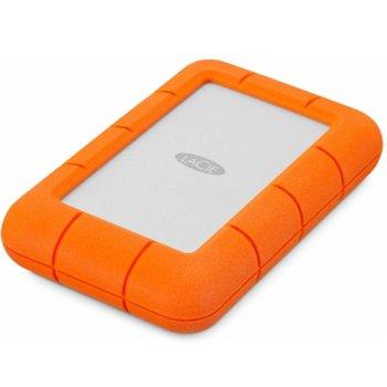 """Твърд диск 5TB, LaCie Rugged Secure STFR5000800 (оранжев), външен, 2.5"""" (6.35 cm), удароустойчив, USB Type C image"""
