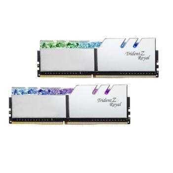 Памет 16GB (2x8GB) DDR4 4000MHz, G.SKILL Trident Z Royal, F4-4000C18D-16GTRS, 1.35V, RGB image