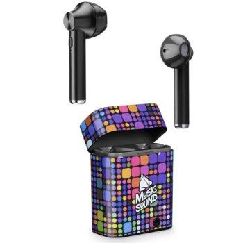 Слушалки Cellularline Music Sound (IT6228), безжични, микрофон, цветни image