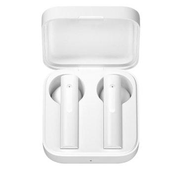 Слушалки Xiaomi Mi True Wireless Earphones 2 Basic, безжични, микрофон, Bluetooth, до 16 часа време за слушане, бели image