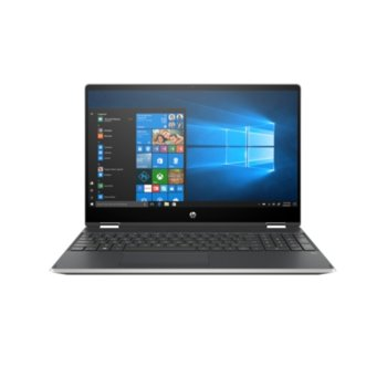 "Лаптоп HP Pavilion x360 15-dq0000nu (8BN09EA)(сребрист) в комплект с куфар за лаптоп HP, четириядрен Intel Core i5-8265U 1.6/3.9 GHz, 15.6"" (39.62 cm) FHD IPS Anti-Glare Touchscreen Display & Radeon 535 2GB, 8GB DDR4, 256GB SSD, Windows 10 image"