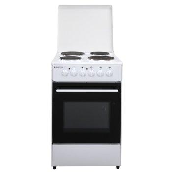Готварска печка Electra 50ST/ED, енергиен клас A, 4 нагревателни зони, 49л. обем, механично управление, бяла image