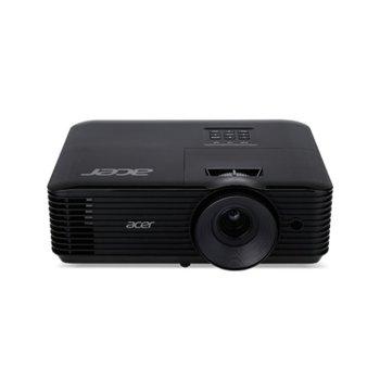 Проектор Acer X128H, DLP, 3D ready, XGA (1024 x 768), 20 000:1, 3600 lm, HDMI, VGA, AUX, USB  image