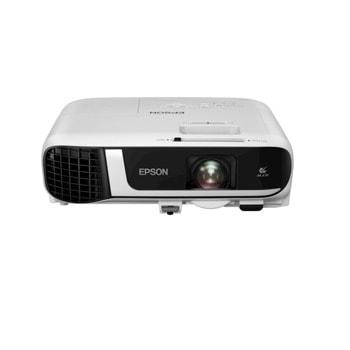 "Проектор Epson EB-FH52, 3LCD, Full HD 1080p (1920 x 1080), 16 000:1, 4000 lm,USB 2.0, USB 2.0, (Type-B), WiFi 802.11n, VGA , HDMI, аудио вход ""чинч"" image"
