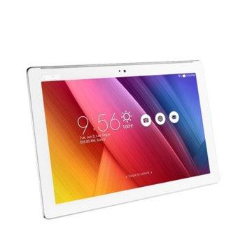 "Таблет Asus ZenPad 10 (Z300M)(бял), 10.1"" (25.65 cm) WXGA IPS дисплей, четириядрен MTK MT8163 1.3GHz, 2GB RAM, 16GB Flash памет(+microSD слот), 5.0 & 2.0 Mpix камера, Android, 489g image"