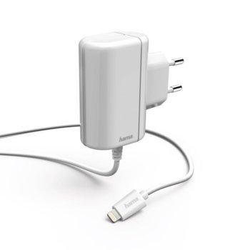 Зарядно устройство HAMA 178262, от контакт към Lightning(м) 5 V, 2.4 A, бялo image