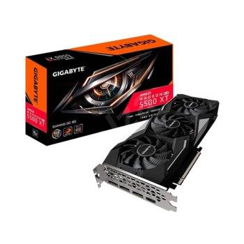 Видео карта AMD Radeon RX 5500 XT, 8GB, Gigabyte GAMING OC, PCI-E, GDDR6, 128bit, HDMI, DisplayPort image