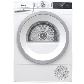 Сушилня Gorenje DA83IL/I 729363, 8 кг. капацитет, 14 програми, свободностояща, 60 cm. ширина, с термопомпа, LED дисплей, бяла  image