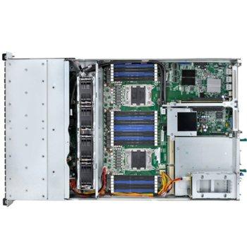 """Barebone Сървър Quanta S210-X22RQ, поддържа 2x Intel Xeon E5-2600/E5-2600 v2 Family, 24x DIMM DDR3 слота, Без твърд диск(12x 3.5"""" hot-plug), 7x PCIe Gen3, 2U Rackmount, 1100W захранване image"""
