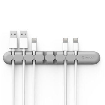 Органайзер за кабели Orico CBS7-GY, разделен на 7 части, сив image