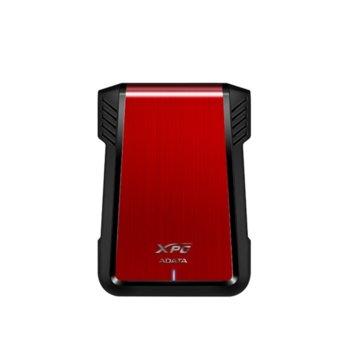 """Кутия 2.5"""" (6.35 cm) A-Data EX500, за 2.5"""" (6.35 cm) HDD/SSD, SATA 3/USB 3.1, червена  image"""