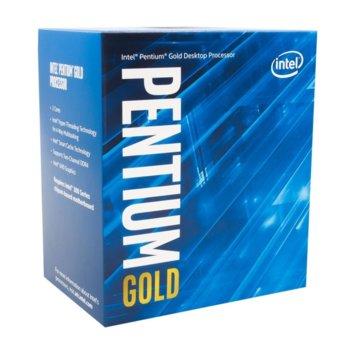Процесор Intel Pentium Gold G5420, двуядрен (3.8GHz, 4MB Cache, 350 MHz-1.05 GHz, LGA1151) BOX, с охлаждане image