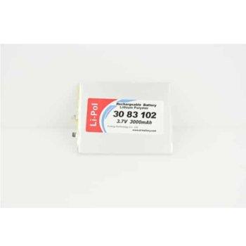 Литиева батерия LP3083102, 3.7V, 3000mAh, Li-polymer, 1бр. image