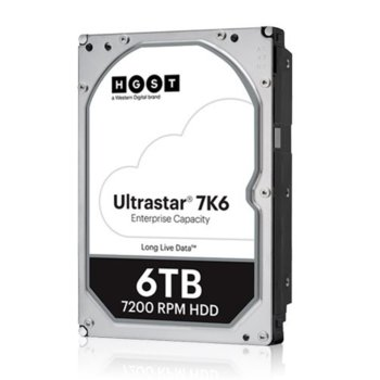 """Твърд диск 6TB HGST Ultrastar DC HC310 7K6 (512e) SE, SAS 12Gb/s, 7200rpm, 256MB, 3.5"""" (8.89cm) image"""