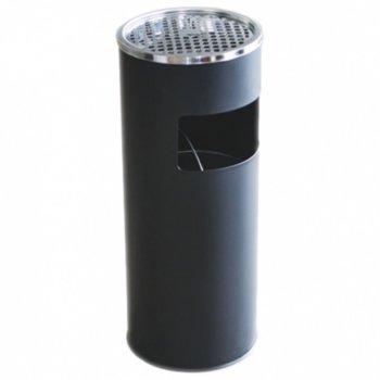 Кошче за отпадъци, с пепелник, водоустойчив, черен image