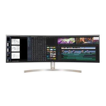 """Монитор LG 49WL95C-W, 49"""" (124.46cm) IPS панел, Dual QHD, 5ms, 1000:1, DisplayPort, HDMI, USB Type C, Headphone jack  image"""