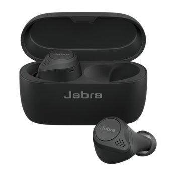 Слушалки Jabra Elite 75t, безжични, микрофон, Bluetooth, с кутия за зареждане, до 7.5 часа време на работа или 28 часа със зарядната кутия, черен image