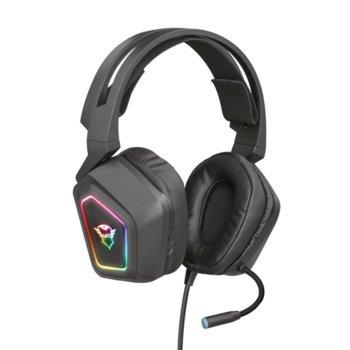Слушалки TRUST GXT 450 Blizz RGB 7.1, микрофон, USB, черни image
