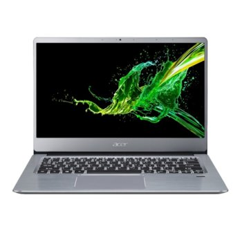 "Лаптоп Acer Swift 3 SF314-58-359R (NX.HPMEX.00B)(сребрист), двуядрен Comet Lake Intel Core i3-10110U 2.1/4.1 GHz, 14.0"" (35.56 cm) Full HD IPS Anti-Glare Display, (HDMI), 4GB, 256GB SSD, 1x USB Type-C, Linux image"