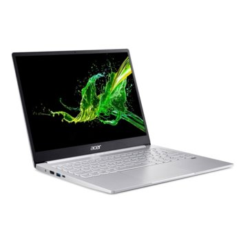 "Лаптоп Acer Swift 3 SF313-52-58L6 (NX.HQWEX.005)(сребрист), четириядрен Ice Lake Intel Core i5-1035G4 1.1/3.7 GHz, 13.5"" (34.29 cm) 2K IPS Glare Display, (HDMI), 8GB, 512GB SSD, 1x USB 3.1 Gen 2 Type C, Windows 10 Home image"