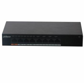 Суич Dahua PFS3008-8GT-60, 1000Mbps, 8 портов, неуправляем, 60W image