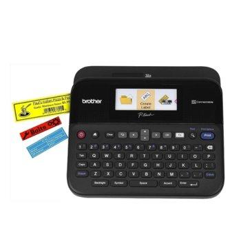 Етикетен баркод принтер Brother PT-D600VP, LCD, Auto Full Cutter, QWERTY клавиатура, професионален image