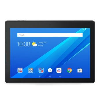"Таблет Lenovo Tab Е10 WiFi GPS BT4.0, Qualcomm 1.3GHz QuadCore S212, 10.1"" IPS 1280x800, 2GB LPDDR3, 16GB flash, 5MP cam + 2MP front, MicroSD up to 128GB, MicroUSB, Dobly Atmos, Android 8 Oreo, Black image"