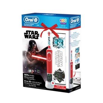Ел. четка за зъби Oral B Vitality D100 Star Wars в комплект с кутия за пътуване TC6/12/6, 2 глави за четка, таймер, синя image