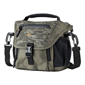 Чанта за фотоапарат Lowepro Nova 140 AW II Pixel Camo, за DSLR фотоапарати и обективи, полиестер, камулаж image