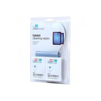 Мокри кърпи и микрофибърна суха кърпа Cleanrange за сензорни екрани, 20бр image