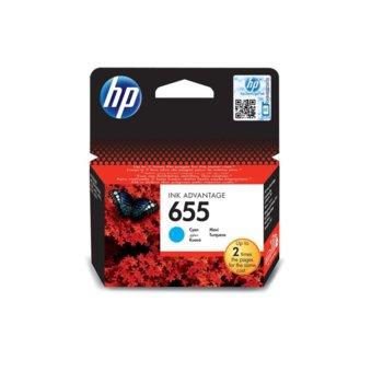ГЛАВА HEWLETT PACKARD Deskjet ink advantage 3525/4615/4625/5522/6525 - Cyan - (655) - P№ CZ110AE - заб.: 600p image