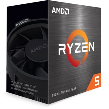 Процесор AMD Ryzen 5 5600X, шестядрен (3.7/4.6GHz, 32MB Cache, AM4) BOX, с Wraith Stealth image