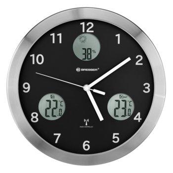 Часовник Bresser MyTime io, механичен/цифров, часовник/влагомер/термометър, cтенен, сребристо-черен image