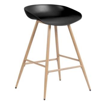 Бар стол Carmen 3086, полипропиленова база, 100 кг. максимално натоварване, черен image