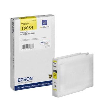 Глава за Epson WorkForce Pro WF-6xxx - Yellow - P№ C13T908440 - Заб.: 4 000k, 39 ml. image