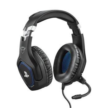 Слушалки Trust GXT - 488 Forze PS4, микрофон, контрол на звука, 3.5mm жак, за PS4/PC, черни image