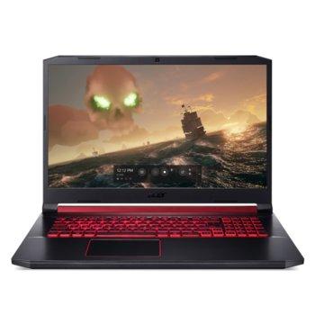 "Лаптоп Acer Nitro 5 AN517-51-71X8 (NH.Q5CEX.00C), шестядрен Coffee Lake Intel Core i7-9750H 2.6/4.5 GHz, 17.3"" (43.94 cm) Full HD IPS Anti-Glare Display & GF GTX 1650 4GB, (HDMI), 8GB DDR4, 1TB HDD, 1x USB 3.1 USB Type-C, Linux image"