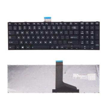 Клавиатура за лаптоп Toshiba, съвместима със серия Satellite C850 C855 C850D L850 L850D Черна със Черна Рамка с Кирилица image
