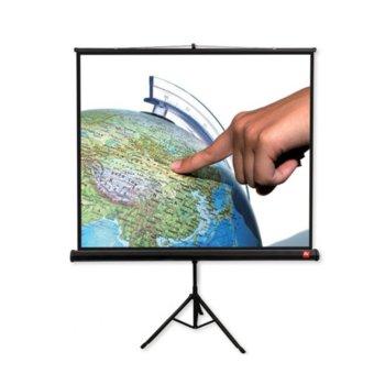 """Екран Avtek Tripod Standard 200, преносим сгъваем трипод, Matt White, 200х200см, 111"""", 1:1, универсален image"""