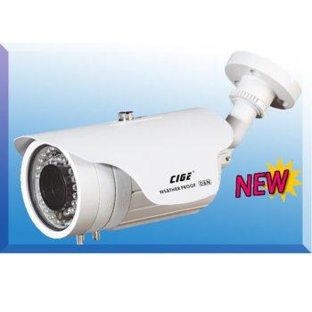 "Аналогова камера CIGE DIS-829MT/EF, насочена (""bullet"") камера, 700 TVL, 6-15mm обектив, IR осветеност (до 45 метра), външна image"
