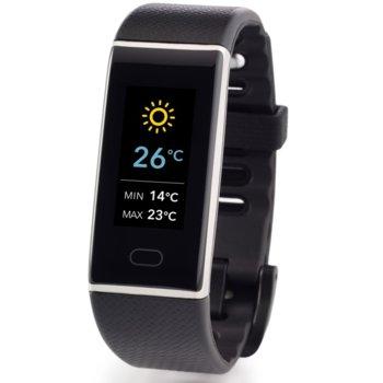 Смарт гривна MyKronoz ZeTrack Black, Bluetooth 4.0, 90mAh батерия, водоустойчив IP67, Android, iOS, Windows, черна image